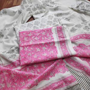 Cotton Suit with Cotton Dupatta