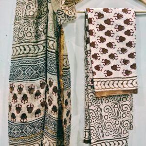 Bagru Printed Kota Doriya Suit Sets