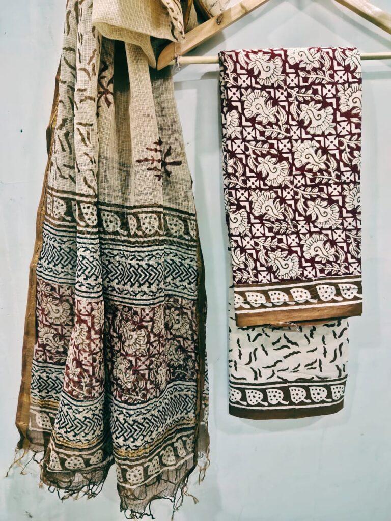 Bagh Print Kota Doriya Suit