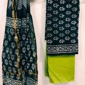 Cotton Suit with Kota Doriya Dupatta