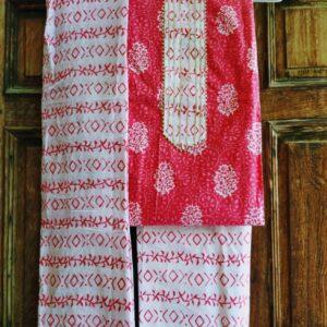 Printed Cotton Gota Patti Suits