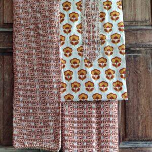 HandBlock Printed Cotton Gota Patti Suit