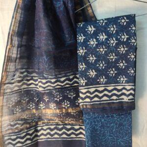 chanderi silk salwar suit